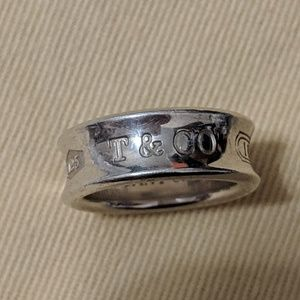 Tiffany & Co 1837 wide ring Vintage 4.5